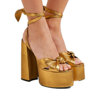 women's shoes hot style brand shoes platform chunky heels red heart gold stars peep toe sandals party shoes