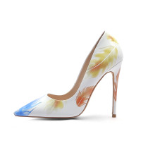 Arden Furtado Summer Fashion Trend Women's Shoes Pointed Toe Stilettos Heels Sexy Elegant Slip-on Pure Color