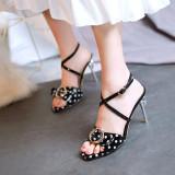 Arden Furtado Summer Fashion Trend Women's Shoes Sexy white Elegant pure color Sandals Buckle Party Shoes Leather Classics