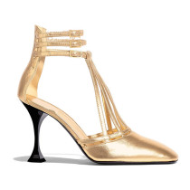 Arden Furtado Summer Fashion gold Women's Shoes Pointed Toe Stilettos Heels Sexy Elegant Buckle strap Sandals Party Shoes