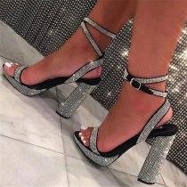 Arden Furtado Summer Fashion Trend Women's Shoes silver Classics Concise Sexy Elegant pure color Sandals Waterproof Big size 47