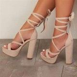 Arden Furtado Summer Fashion Women's Shoes Sexy Elegant ankle strap platform Sandals Gladiator sandalsBig size 47
