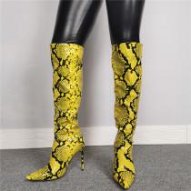 Arden Furtado Fashion Women's Shoes Winter  Pointed Toe Stilettos Heels  Sexy Elegant Ladies Boots Knee High Boots Mature