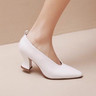 Arden Furtado Summer Fashion Trend Women's Shoes Pointed Toe   Sexy Elegant pure color Pumps Elegant Strange Style Heels Slip-on