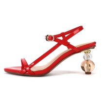 Arden Furtado Summer Fashion Women's Shoes Sexy Elegant red white strange style Sandals Buckle Party Shoes new Big size 43
