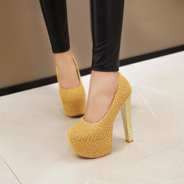 Arden Furtado Summer Fashion Trend Women's Shoes Slip-on Pointed Toe Stilettos Heels  Sexy Elegant pure color Pumps  Big size 48