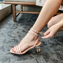 Arden Furtado Summer Fashion Women's Shoes  Sexy Elegant pure color Sandals Buckle Party Shoes Concise Classics Narrow Band