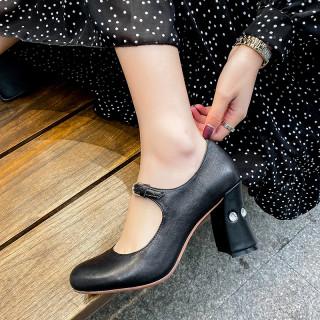 Arden Furtado Summer Fashion Trend Women's Shoes Buckle   beige Sexy Elegant Chunky Heels Mature Big size 43