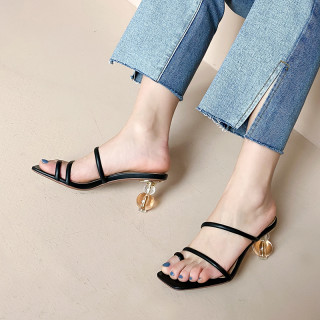 Arden Furtado Summer Fashion Trend Women's Shoes Concise pure color white Narrow Band Sexy Elegant  Leather Classics