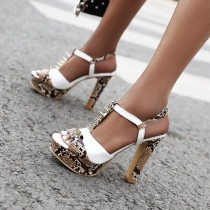 Arden Furtado Summer Fashion Trend Women's Shoes Concise Concise Waterproof pure color gold  Sexy Elegant  Chunky Heels Sandals