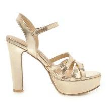 Arden Furtado Summer Fashion Women's Shoes gold Narrow Band platform Sandals Sexy Elegant white shoes