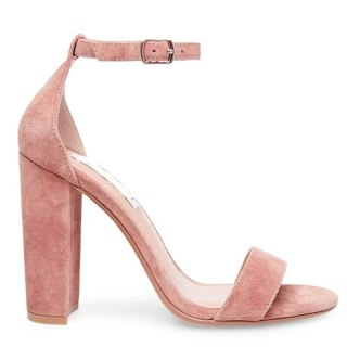 Arden Furtado Summer Fashion Women's Shoes Narrow Band Chunky Heels new Sexy Elegant Buckle strap white pink suede cover heels Sandals