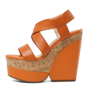 Arden Furtado Summer Fashion Women's Shoes Genuine Leather Elegant Platform high heels wedges Sandals