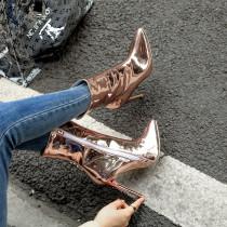 Arden Furtado Fashion Women's Shoes Winter Pointed Toe Stilettos Heels Zipper Sexy Elegant Ladies Boots Concise Mature