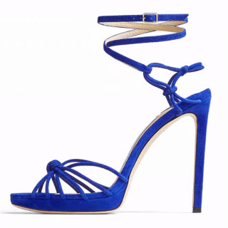 Arden Furtado summer party shoes ladies zipper open toe stilettos heels royalblue sandals big size 45