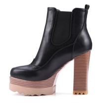 Chunky heels Platform boots Women's shoes ladies Ankle boots