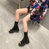 Arden Furtado Summer Fashion Trend Women's Shoes Classics Mature pure color Sexy Elegant Peep Toe sexy Cool boots Big size 46