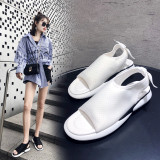 Arden Furtado Summer Fashion Trend Women's Shoes white concise pure color Sandals Casual Shoes Small size 29 Big size 46