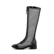 Arden Furtado Summer Fashion Trend Women's Shoes Sexy Elegant Ladies Boots  Concise pure color pure color Wire side Big size 40