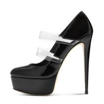 Arden Furtado Summer Fashion Trend Women's Shoes Stilettos Heels Platform Narrow Band Slip-on Sexy Elegant Concise Classics  Mature pumps Big size 48