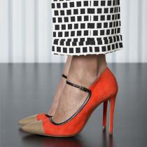 Arden Furtado Summer Fashion Women's Shoes  Mixed Colors Stilettos Heels Sexy pumps Mature pumps Buckle Classics Big size 48