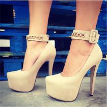 Arden Furtado Summer Fashion Trend Women's Shoes Stilettos Heels Platform Sexy Buckle Elegant Concise Classics  Mature pumps Big size 47