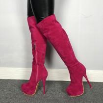 Arden Furtado  Winter  Fashion Trend Women's Shoes Stilettos Heels Waterproof Sexy Zipper Elegant Concise Classics  Mature knee high boots  Big size 47