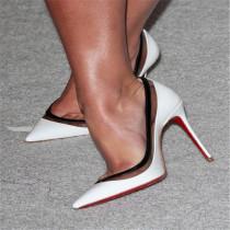 Arden Furtado Summer Fashion Trend Women's Shoes Stilettos Heels Sexy Elegant Concise Classics PVC Mature pumps Big size 47