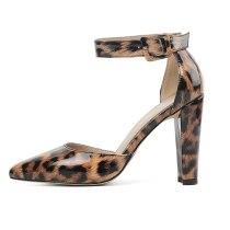 Arden Furtado Summer Fashion Trend Women's Shoes Pointed Toe Chunky Heels Sexy Elegant Sandals Buckle Chunky Heels Classics