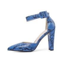 Arden Furtado Summer Fashion Women's Shoes Pointed Toe Chunky Heels Sexy Serpentine Elegant Buckle Sandals Classics Big size 46