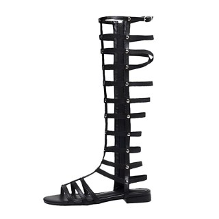 Arden Furtado Summer Fashion  Women's Shoes pure color Sandals Zipper Classics Leather Mature Concise Gladiator Narrow Band