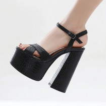 Arden Furtado Summer Fashion Trend Women's Shoes  Chunky Heels Sexy Elegant pure color Buckle Sandals Party Shoes Big size 41