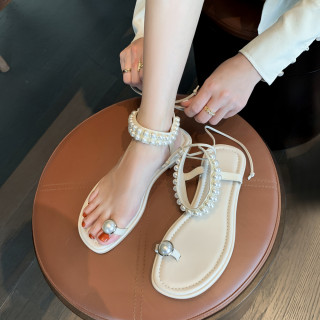 Arden Furtado Summer Fashion Trend Women's Shoes Sexy pure color Sandals Sling Back Narrow Band Classics  Pearl
