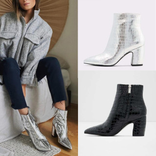 Arden Furtado Fashion Women's Shoes Winter Pointed Toe Chunky Heels Zipper  Sexy Elegant Ladies Boots Concise Mature Short Boots