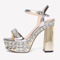 Arden Furtado Summer Fashion Women's Shoes Sexy Elegant Classics concise Buckle strap Crystal rhinestone Platform Sandals