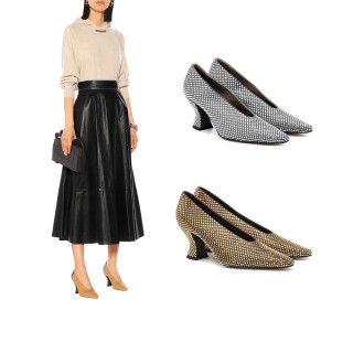 Arden Furtado Summer Fashion Women's Shoes Special-shaped Heels  Slip-on Office lady Sexy Elegant pure color Pumps  Big size 43