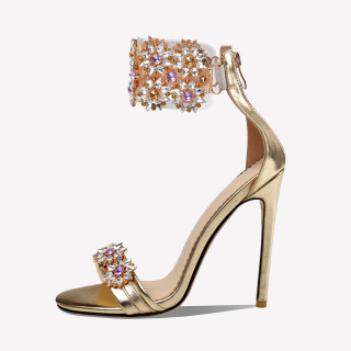 Arden Furtado Summer Fashion  Women's Shoes Stilettos Heels Rhinestone Sandals ankle strap shoes