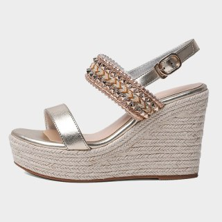 Arden Furtado Summer Fashion Trend Women's Shoes Narrow Band Concise Sexy Classics Elegant pure color Wedges Waterproof Sandals