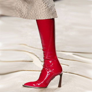 Arden Furtado Fashion Women's Shoes Winter Pointed Toe Stilettos Heels Zipper Elegant Concise Knee High Boots Big size 43