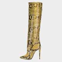 Arden Furtado Fashion Women's Shoes Winter Pointed Toe Stilettos Heels Sexy Elegant Ladies Boots Concise Slip-on Knee High Boots