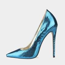 Arden Furtado Summer Fashion  Women's Shoes Pointed Toe Stilettos Heels Sexy Elegant pure color red blue Slip-on  Big size 45
