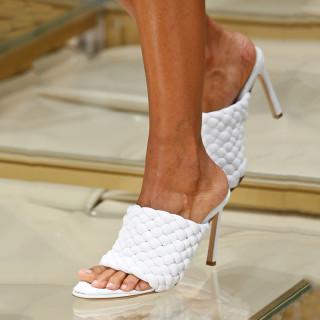 Arden Furtado Summer Fashion Women's Shoes open Toe Stilettos Heels Sexy Elegant Slippers high heels red blue white slides