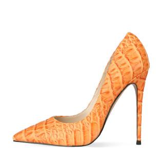 Arden Furtado Summer Fashion Women's Shoes Pointed Toe Stilettos Heels Classics Sexy Elegant Slip-on Shallow Orange Pumps 43 45