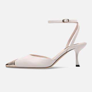 Arden Furtado Summer Fashion Trend Women's Shoes Pointed Toe Stilettos Heels Sexy Sandals Elegant pure color Sandals