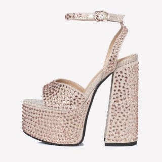 Arden Furtado Summer Fashion Women's Shoes Pointed Toe Chunky Heels Sexy Serpentine Elegant Buckle strap sankeskin Sandals