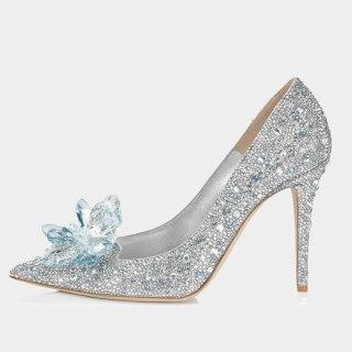 Arden Furtado Summer Fashion Women's Shoes Pointed Toe Sexy Elegant silver Pumps Stilettos Heels Elegant  Slip-on shoes