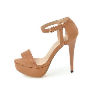 Arden Furtado Fashion Women's Shoes Elegant Pointed Toe Stilettos Heels Waterproof Concise Mature Office Lady  Sandals 32 43