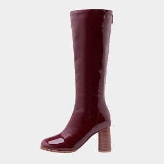 Arden Furtado 2020 autumn Fashion Women's Shoes new Elegant sexy chunky heels  Square Head Knee High Boots big size 47 48