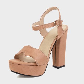 Arden Furtado summer fashion women's shoes sexy elegant red buckle sandals Chunky Heels Waterproof size 32 43 new