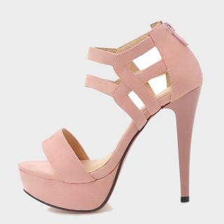 Arden Furtado summer fashion women's shoes sexy elegant red buckle sandals stilettos heels Waterproof size 32 43 new
